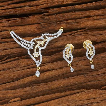 53979 CZ Classic Mangalsutra with 2 tone plating