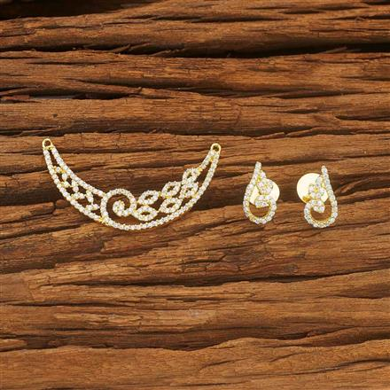 53980 CZ Classic Mangalsutra with gold plating