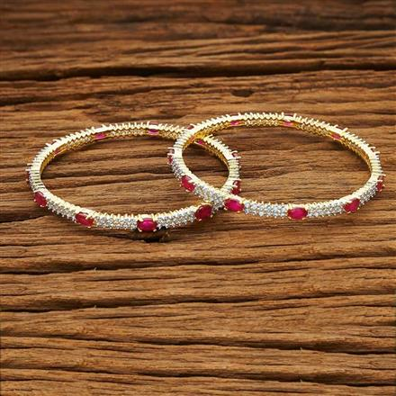 53995 CZ Classic Bangles with 2 tone plating