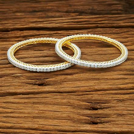 53996 CZ Classic Bangles with 2 tone plating