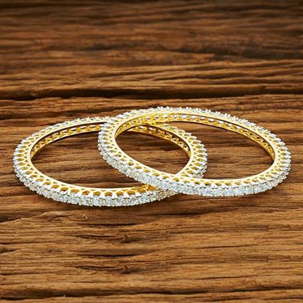 53997 CZ Classic Bangles with 2 tone plating