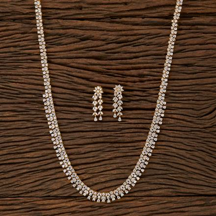 540003 Cz Classic Necklace With Gold Plating
