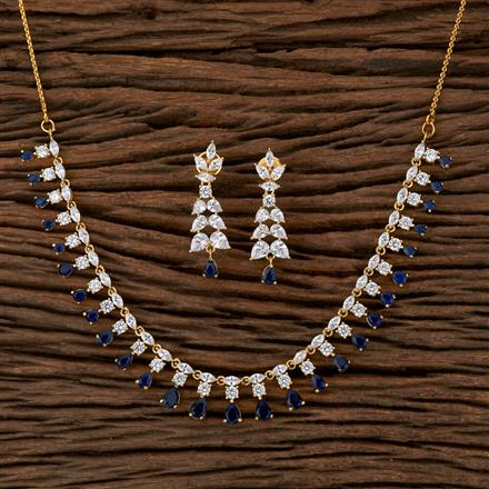 540012 Cz Delicate Necklace With Gold Plating