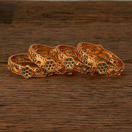 540031 Cz Classic Bangles With Gold Plating
