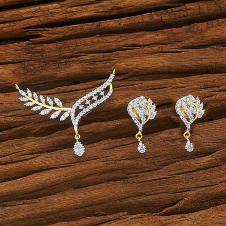 54003 CZ Classic Mangalsutra with 2 tone plating