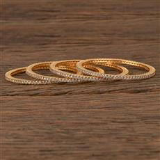 540049 Cz Delicate Bangles With Gold Plating