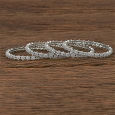 540056 Cz Delicate Bangles With Rhodium Plating