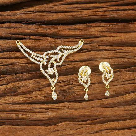 54005 CZ Classic Mangalsutra with gold plating