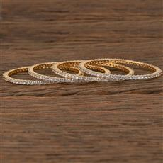 540066 Cz Delicate Bangles With Gold Plating
