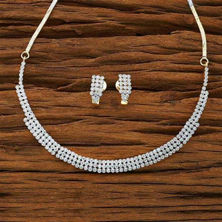 54007 CZ Classic Necklace with 2 tone plating
