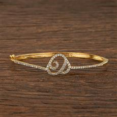 540085 Cz Delicate Kada With Gold Plating