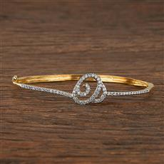 540087 Cz Delicate Kada With 2 Tone Plating