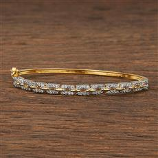 540090 Cz Delicate Kada With 2 Tone Plating