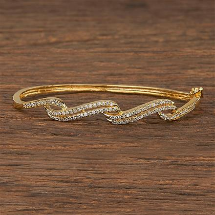 540093 Cz Delicate Kada With Gold Plating