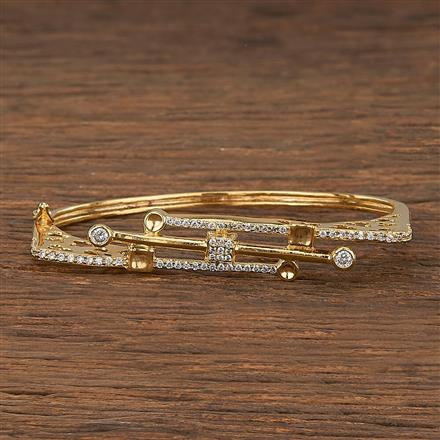 540104 Cz Delicate Kada With Gold Plating