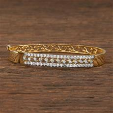 540107 Cz Delicate Kada With 2 Tone Plating