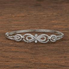 540113 Cz Delicate Kada With Rhodium Plating
