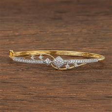 540121 Cz Delicate Kada With 2 Tone Plating