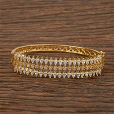 540124 Cz Classic Kada With Gold Plating