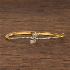 540127 Cz Delicate Kada With Gold Plating