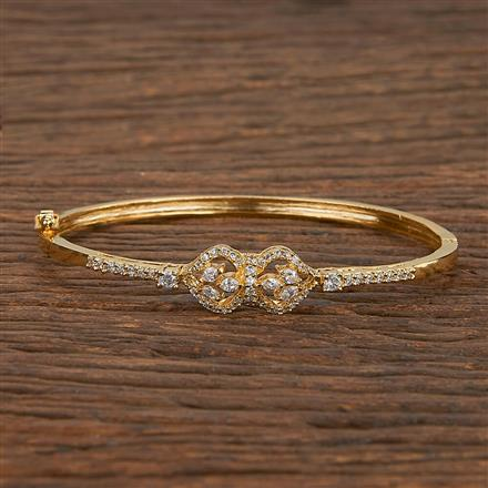 540133 Cz Delicate Kada With Gold Plating