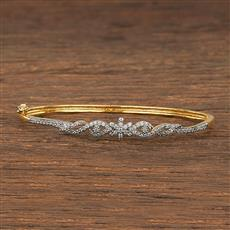 540144 Cz Delicate Kada With 2 Tone Plating
