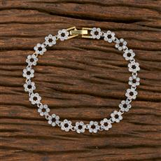 540151 Cz Classic Bracelet With 2 Tone Plating