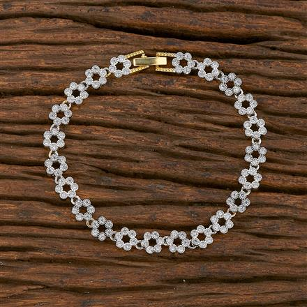 540151 Cz Classic Bracelet With 2 Tone Plating