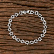 540152 Cz Classic Bracelet With Rhodium Plating
