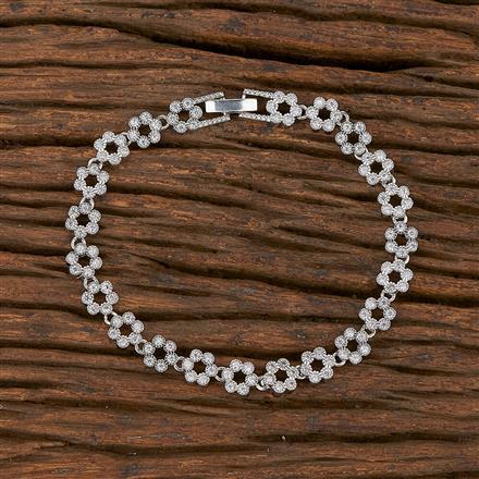 540152 Cz Classic Bracelet With Rhodium Plating