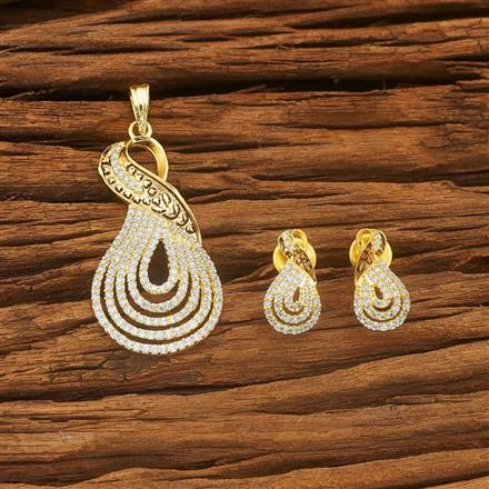 54018 CZ Classic Pendant Set with gold plating