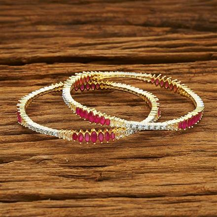 54020 CZ Classic Bangles with 2 tone plating