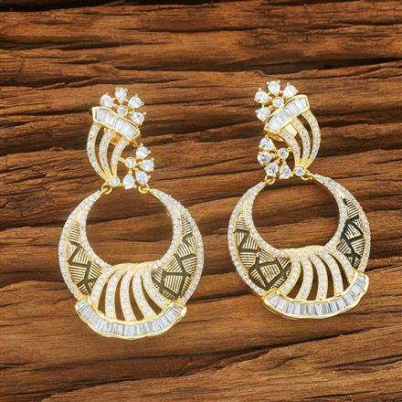 54033 CZ Classic Earring with gold plating