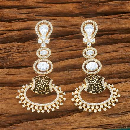 54035 CZ Classic Earring with gold plating