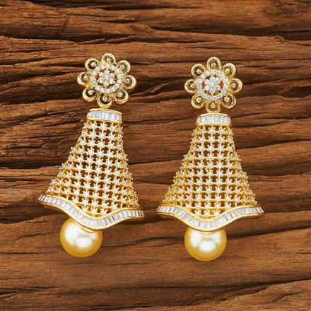 54036 CZ Classic Earring with gold plating