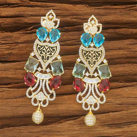 54038 CZ Classic Earring with gold plating