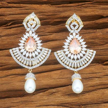 54040 CZ Classic Earring with 2 tone plating