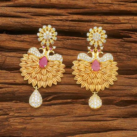 54042 CZ Peacock Earring with gold plating