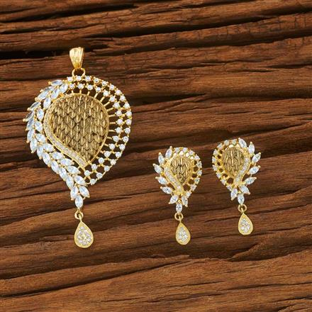 54053 CZ Classic Pendant Set with gold plating
