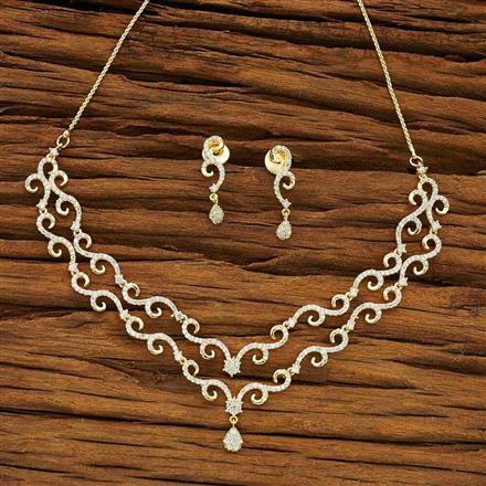 54068 CZ Delicate Necklace with gold plating