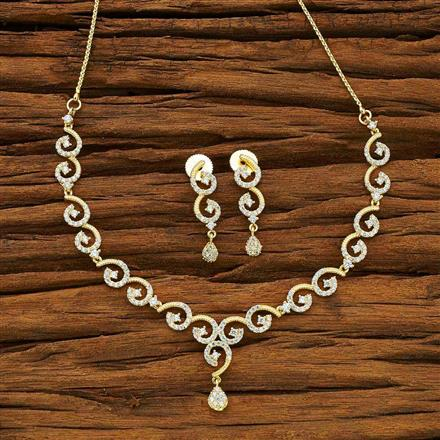 54070 CZ Delicate Necklace with gold plating