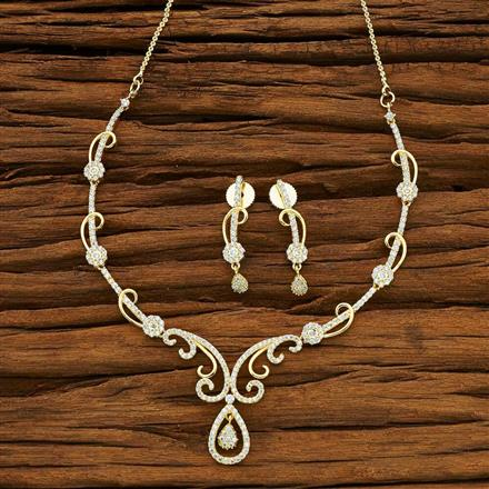 54074 CZ Delicate Necklace with gold plating