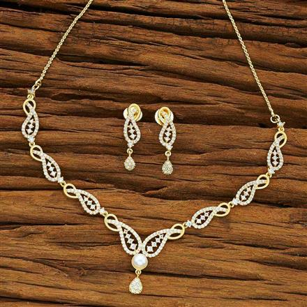 54079 CZ Delicate Necklace with gold plating
