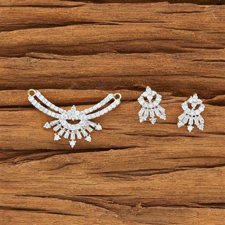 54115 CZ Delicate Mangalsutra with 2 tone plating