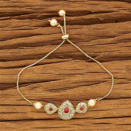 54119 CZ Adjustable Bracelet with gold plating