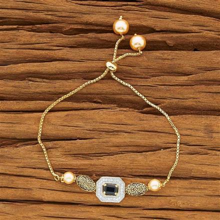 54120 CZ Adjustable Bracelet with 2 tone plating