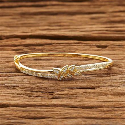 54150 CZ Delicate Kada with gold plating