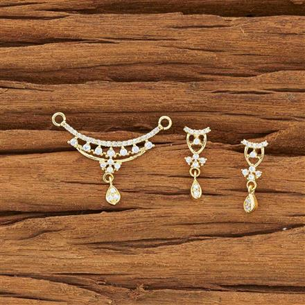 54159 CZ Delicate Mangalsutra with gold plating