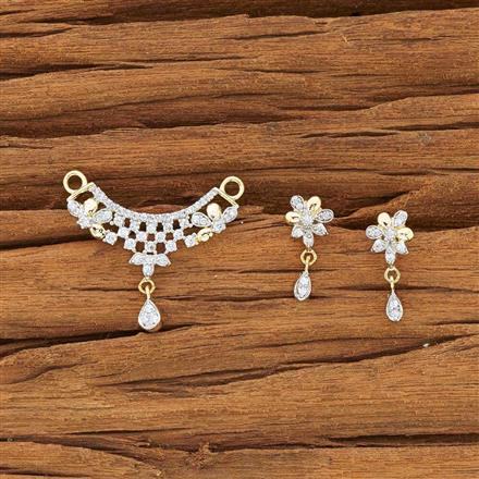 54160 CZ Delicate Mangalsutra with 2 tone plating