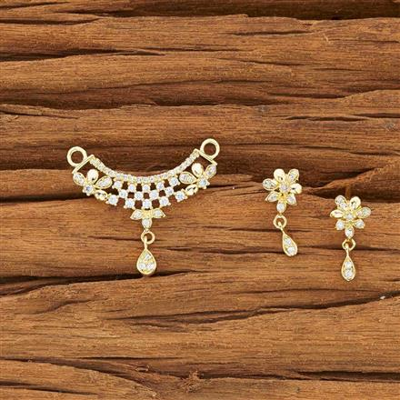 54161 CZ Delicate Mangalsutra with gold plating